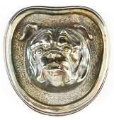 Henryk Winograd Silver Bulldog Paperweight