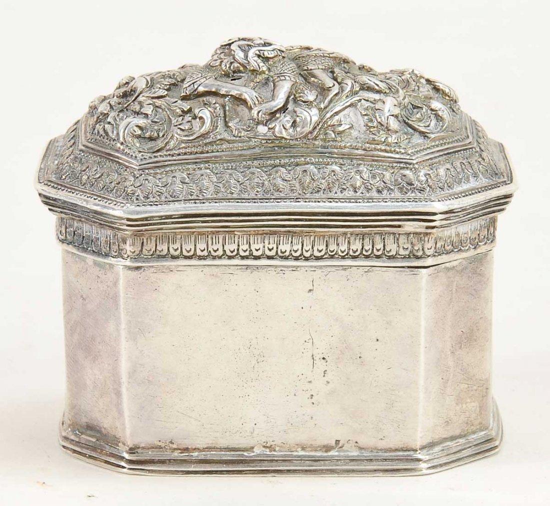 Indonesian Silver Betel Nut Box