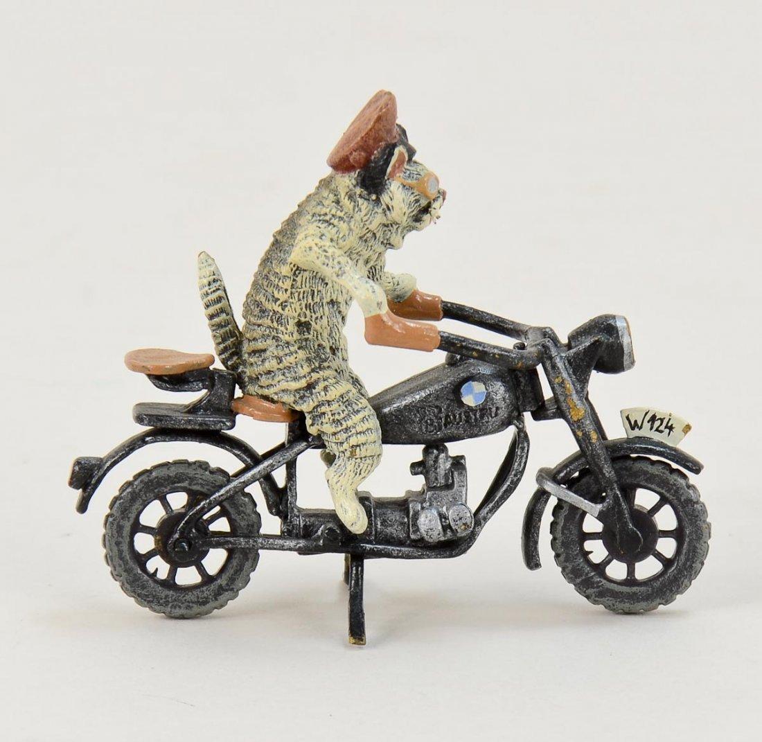 Vienna Bronze Cat riding BMW Motorcycle