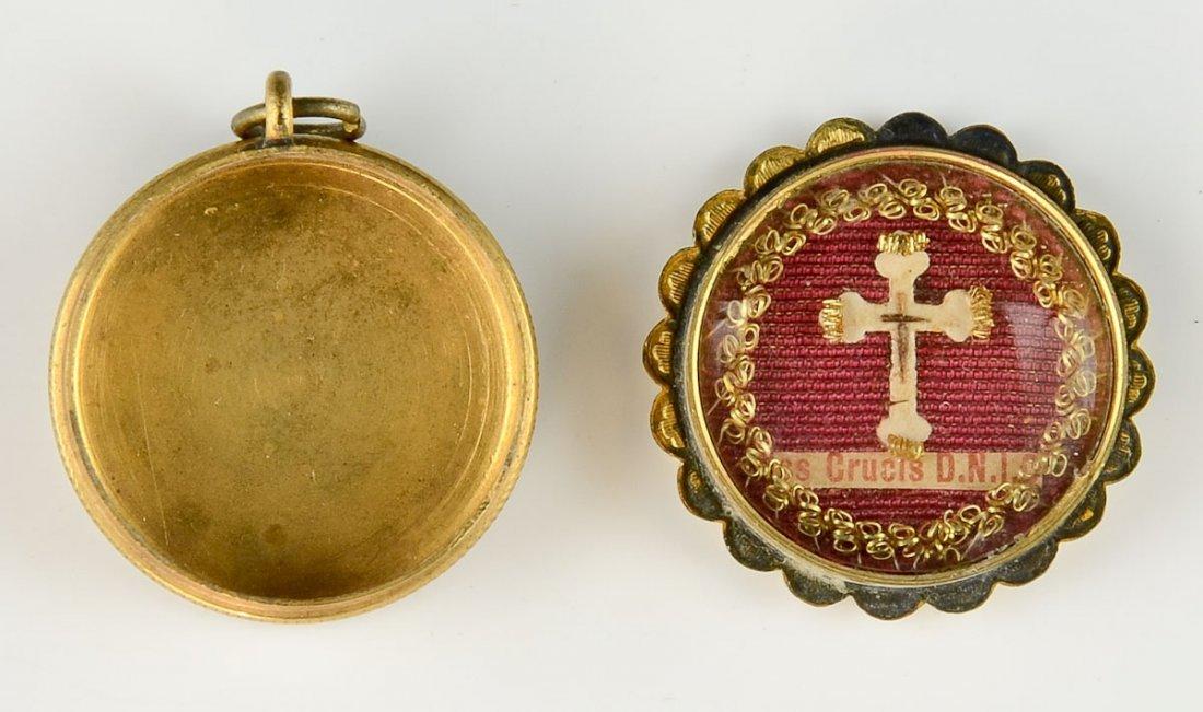 Pocket reliquary cross