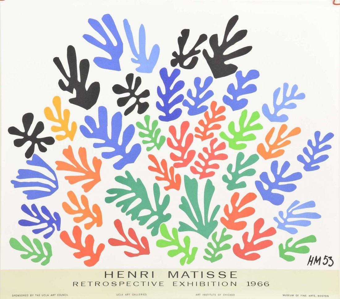 1966 Henri Matisse Retrospective Exhibition poster