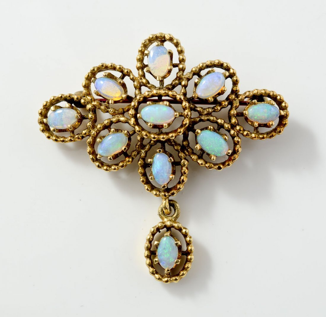 Ladies 14K Opal Pin / Pendant