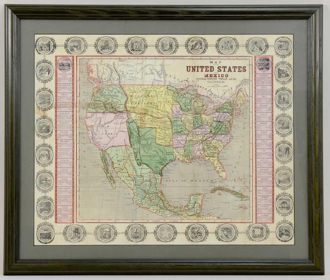 John Haven Map: United States and Mexico