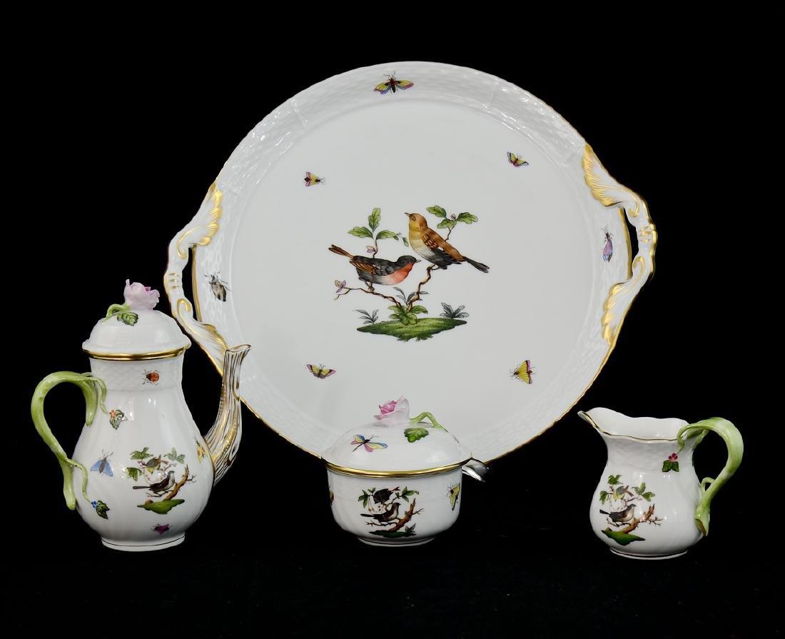 Herend Rothschild porcelain Tea Set