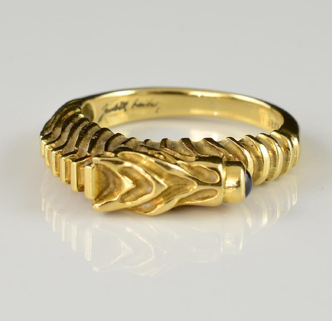 Judith Leiber 18K Seahorse Ring