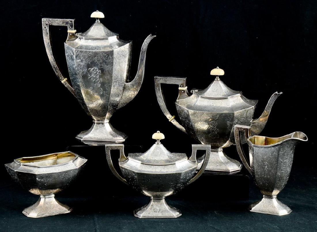 Antique Sterling Silver Tea Service