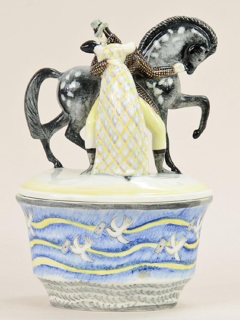 Lenci Ceramic Covered bowl