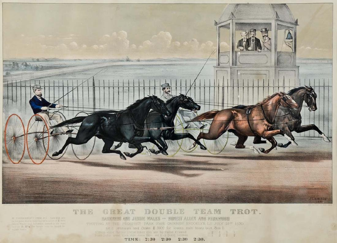 Currier & Ives Horse Race Lithograph