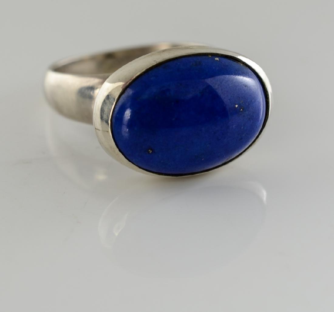 Georg Jensen Sterling Silver Lapis Ring