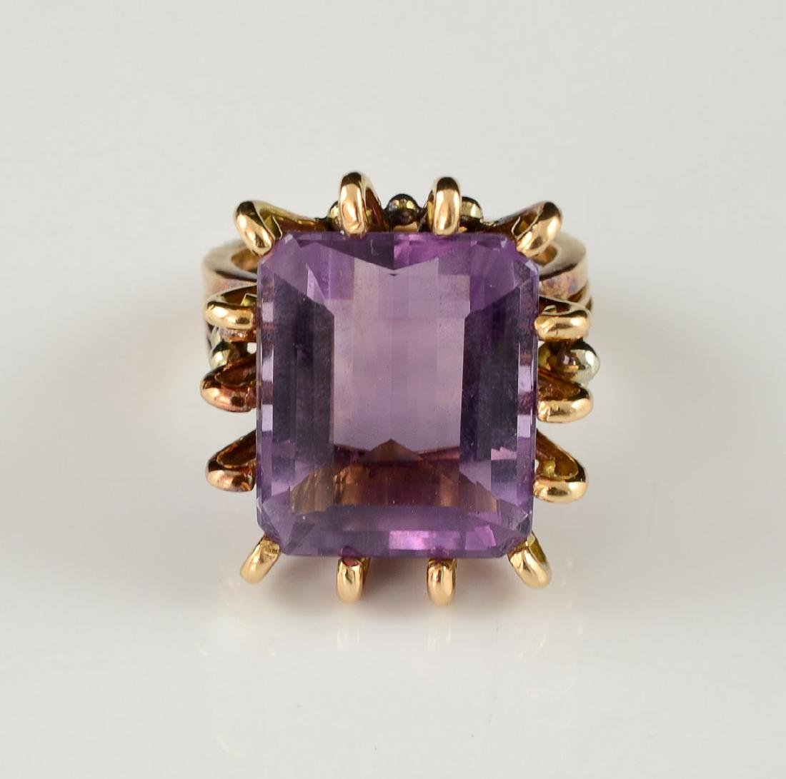 Ladies 18K Amethyst Ring