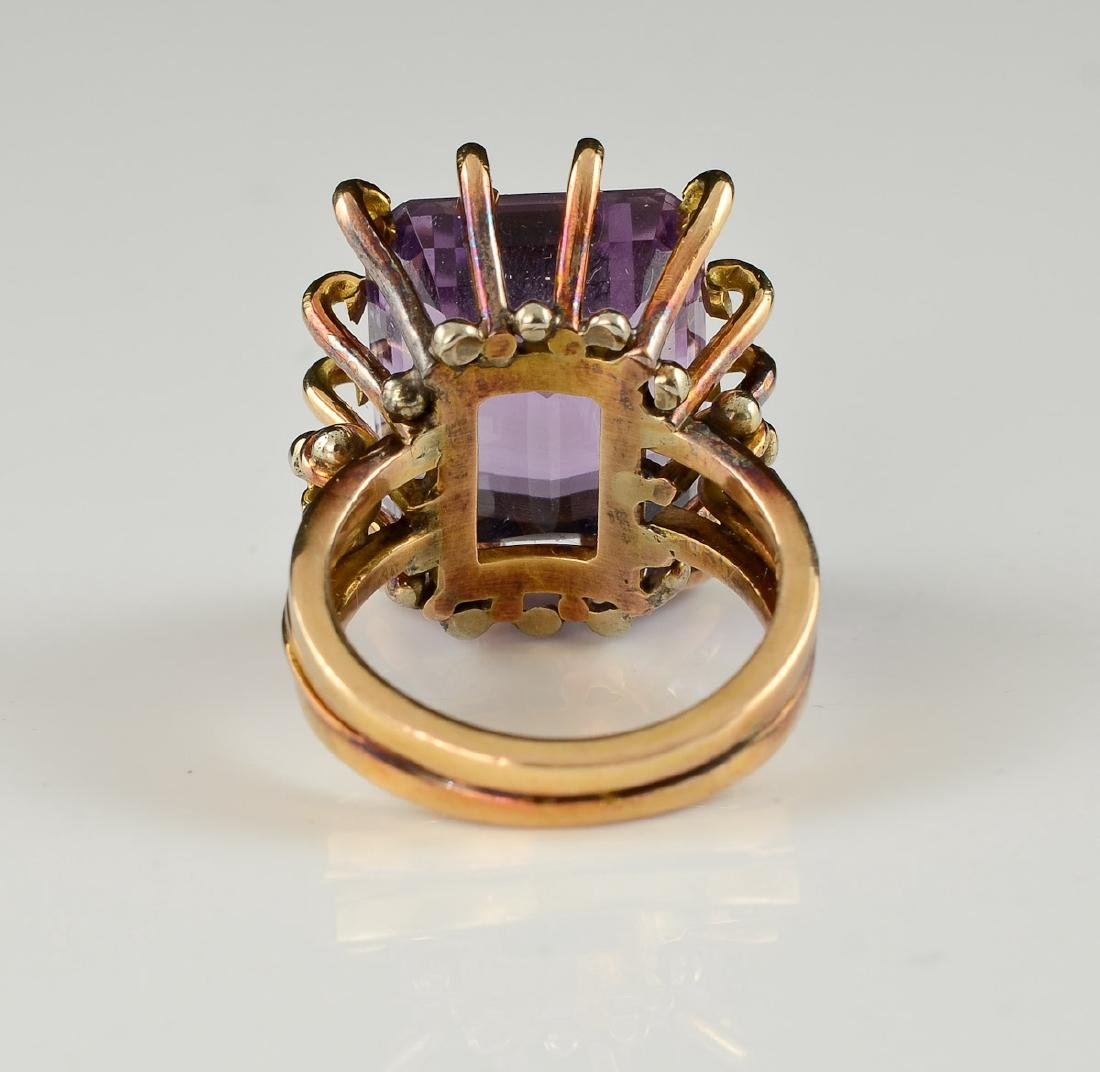 Ladies 18K Amethyst Ring - 3