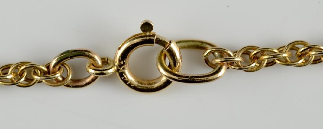 Ladies Antique 14K Amethyst Necklace - 3