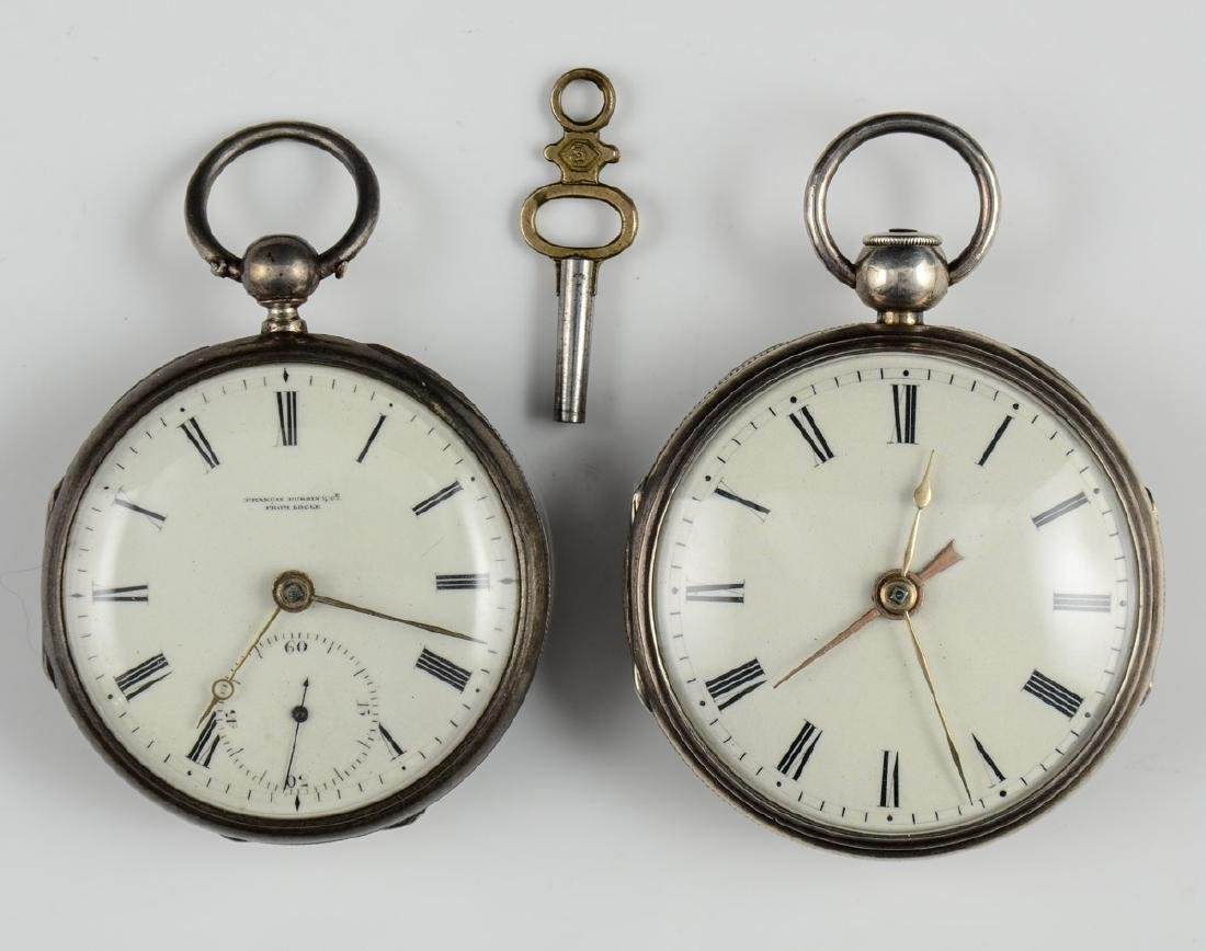 2 Silver Fusee pocket watches