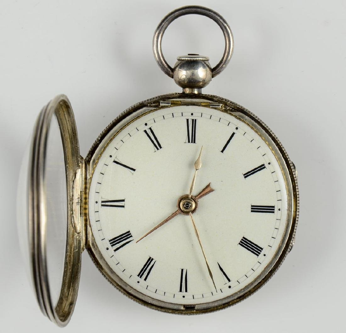 2 Silver Fusee pocket watches - 4