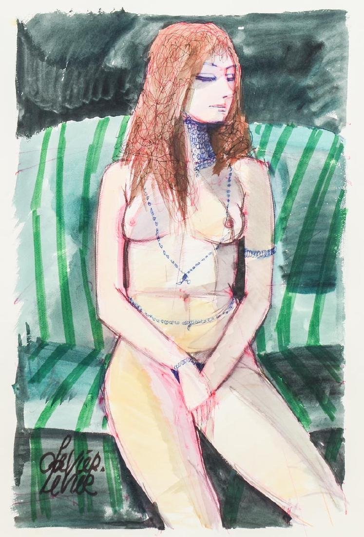 Charles Levier Watercolor Nude