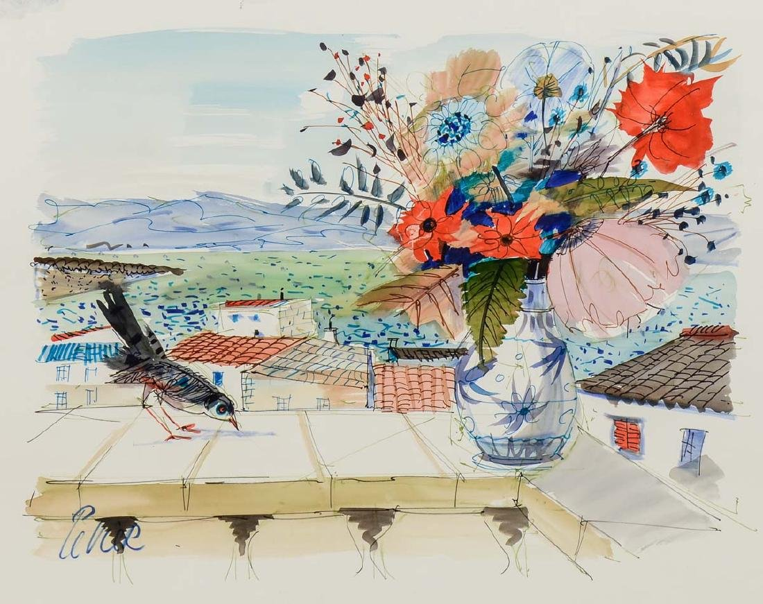 Charles Levier Watercolor Flowers