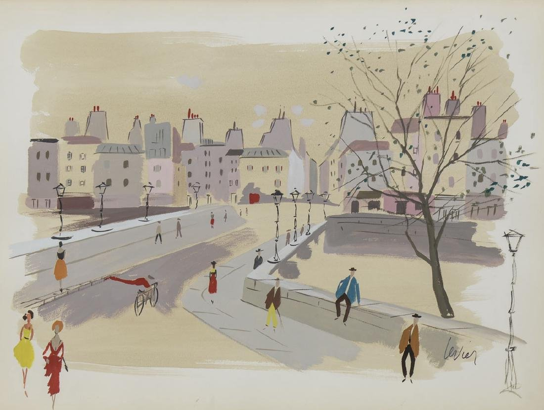 Charles Levier Watercolor Street Scape