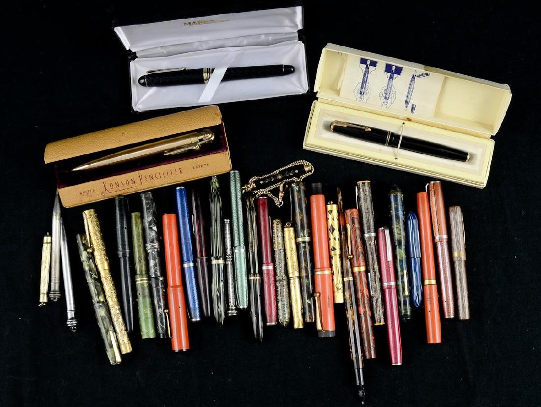 Group of Antique Fountain Pens