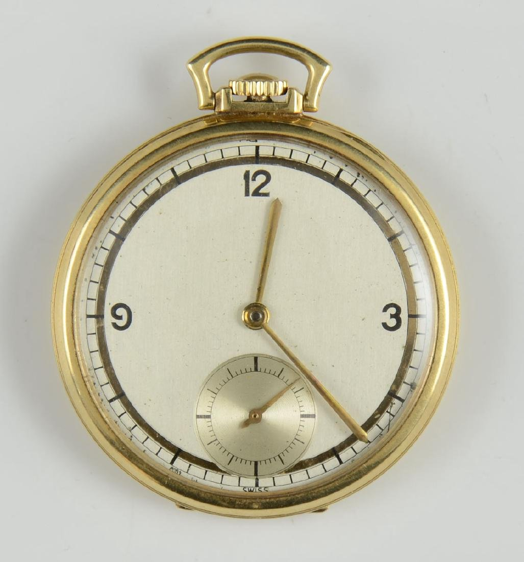 Men's open face pocket watch