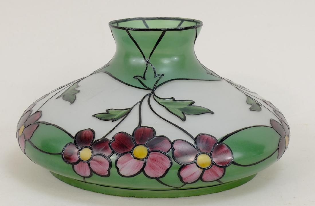 Handel Painted Glass Lamp Shade
