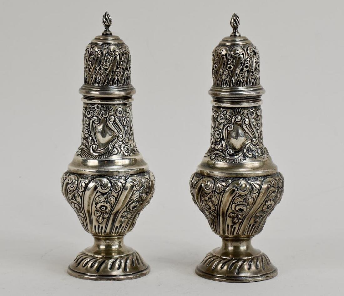 Pair of English Silver Shakers