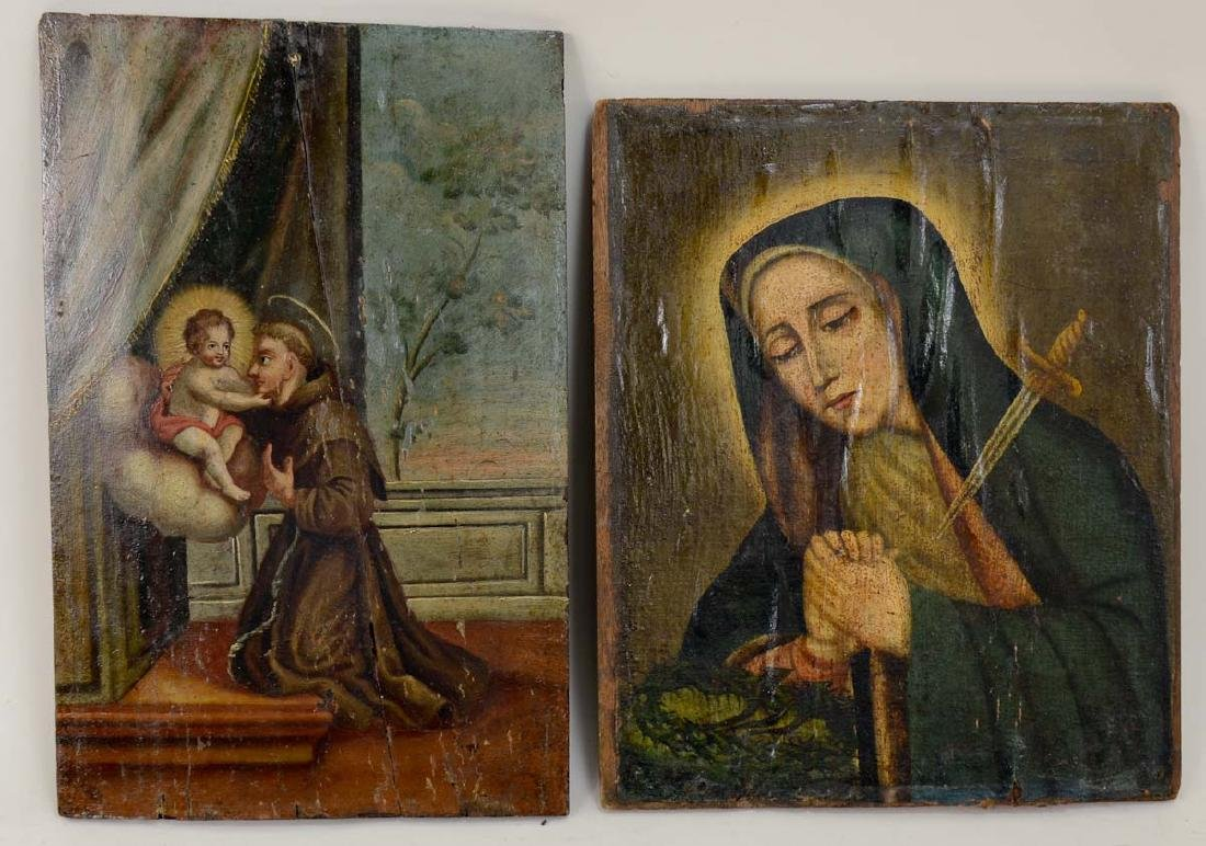 Two Religious Paintings