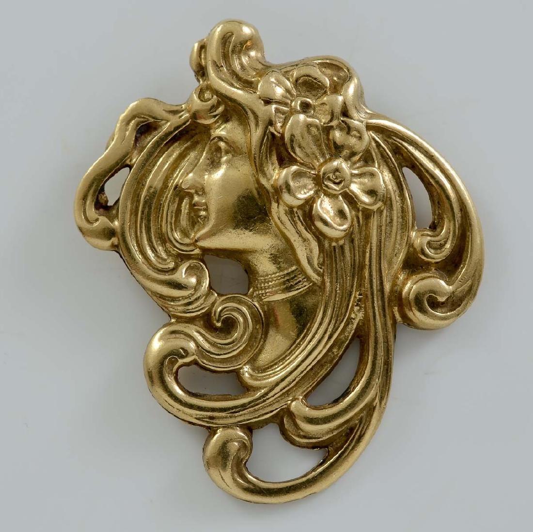 14K Art Nouveau Pendant