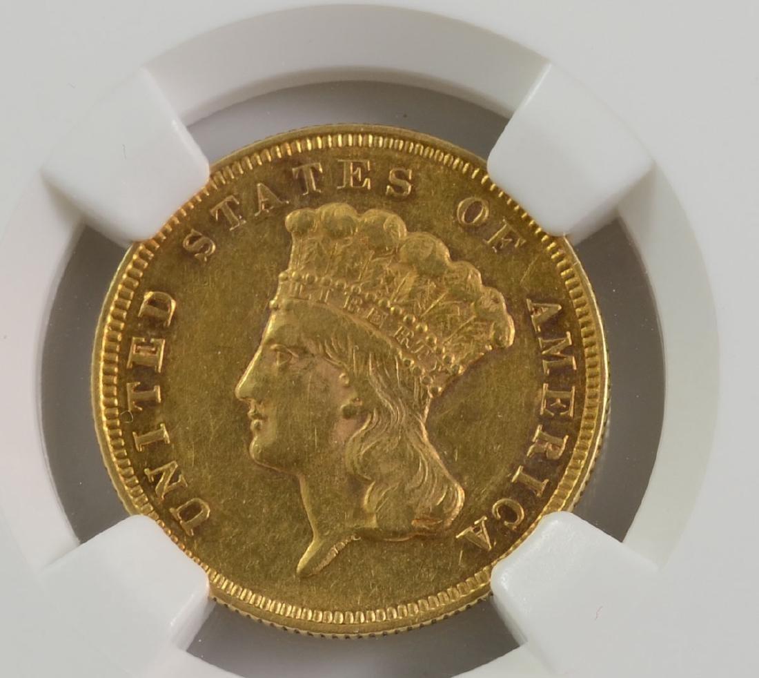 1881 $3 Gold Indian Princess AU53