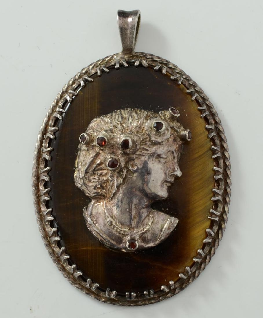 Sterling Silver Cameo Pendant