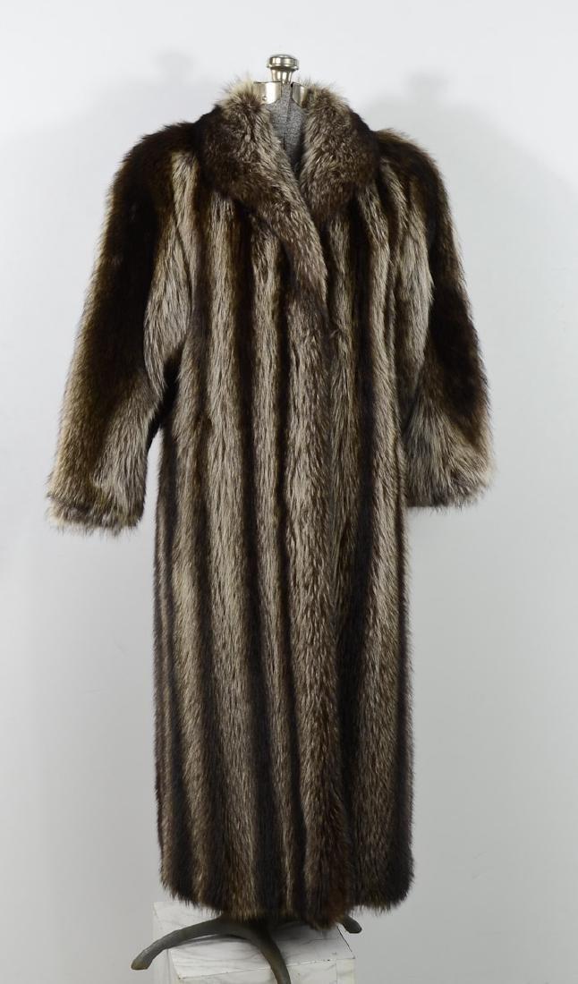 Vintage Raccoon Fur Coat