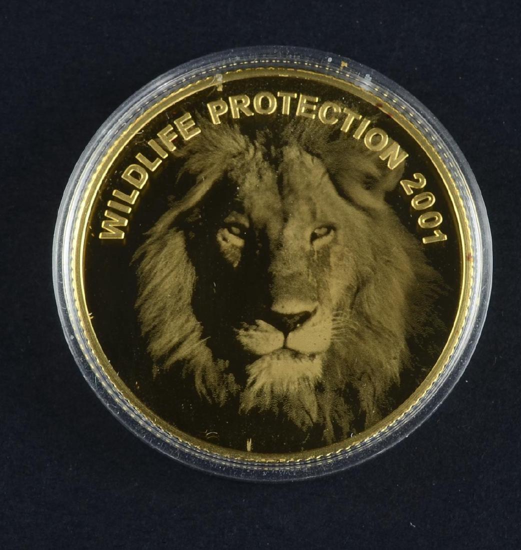Zambia 2001 Gold Lion