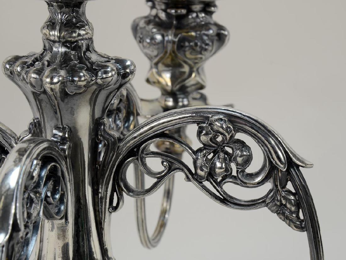 Art Nouveau Five Light Candelabra - 2