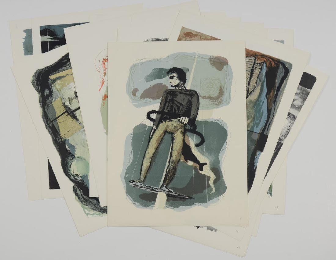 Benton Spruance Lithographs Moby Dick