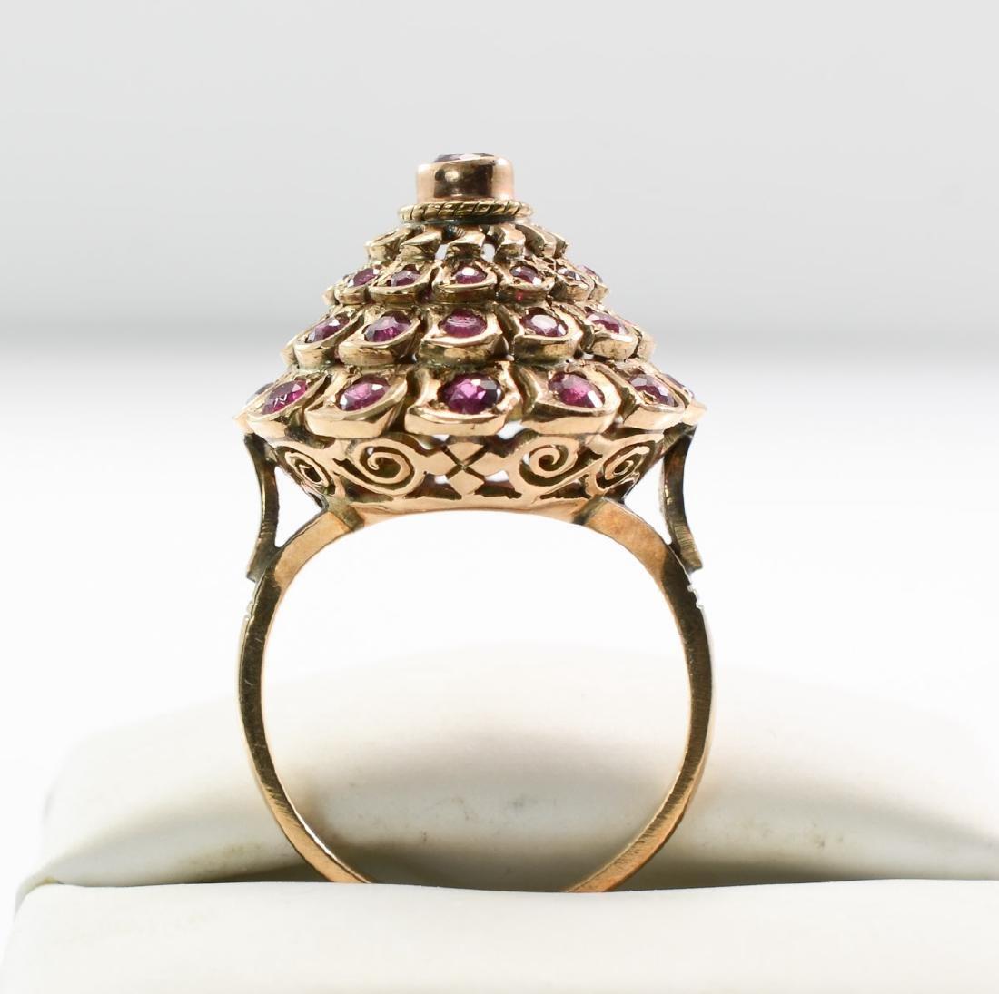 Ladies 14K Ruby Ring - 3