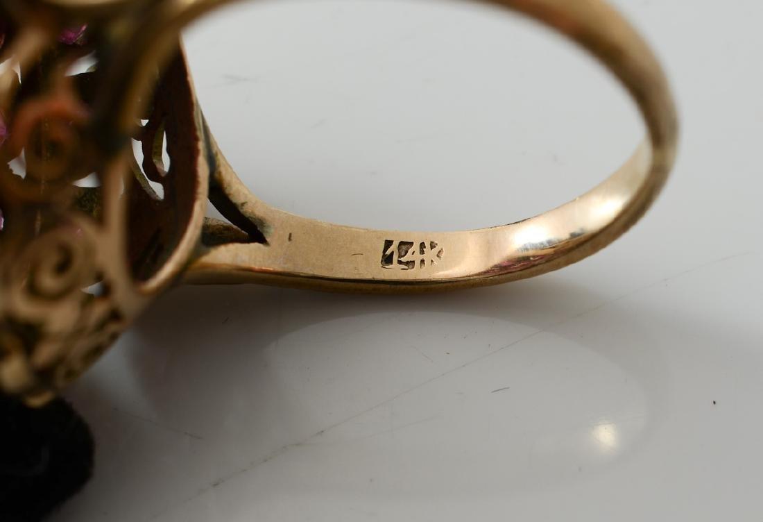 Ladies 14K Ruby Ring - 4