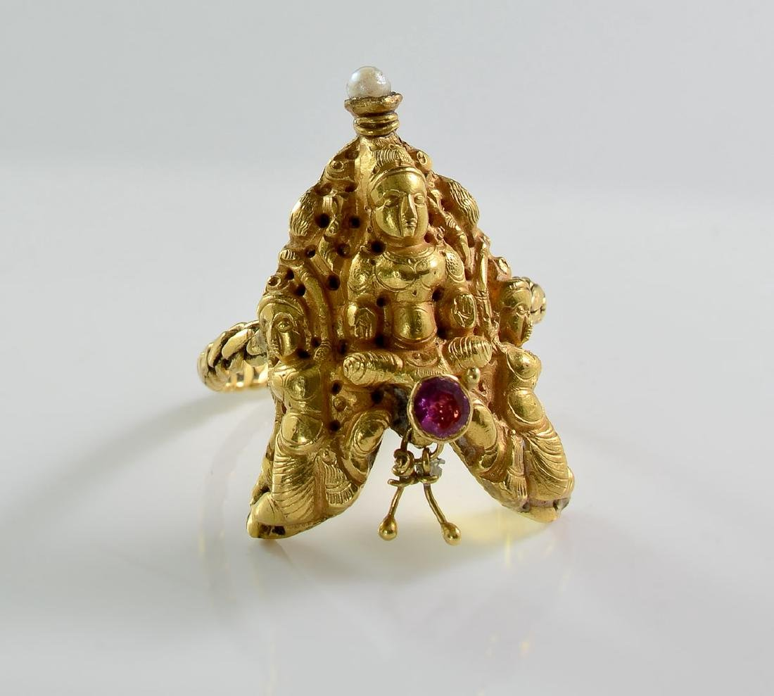 Indian High Carat Gold Ring