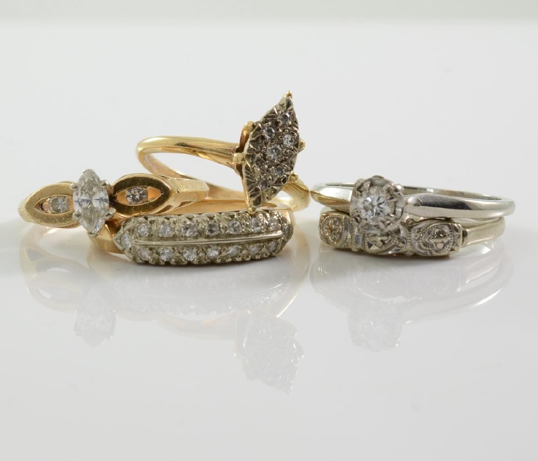 Group of Five Ladies Rings