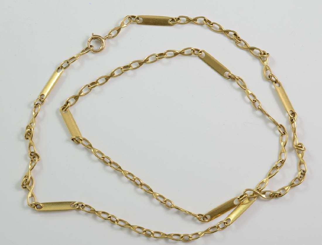 14K Link-Bar Gold Chain