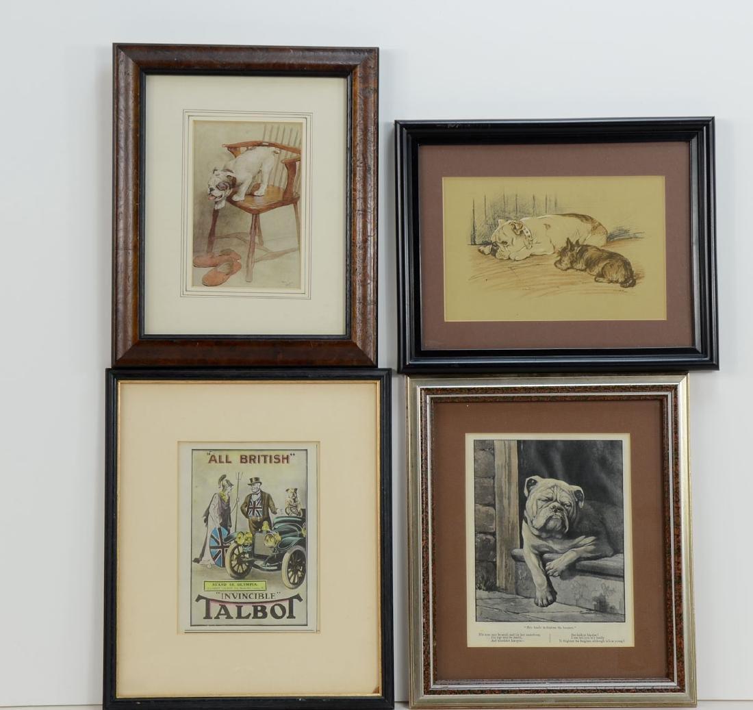 Four framed Bulldog Prints