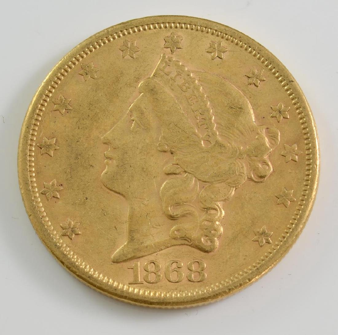 1868-S $20 Liberty Gold Double Eagle coin
