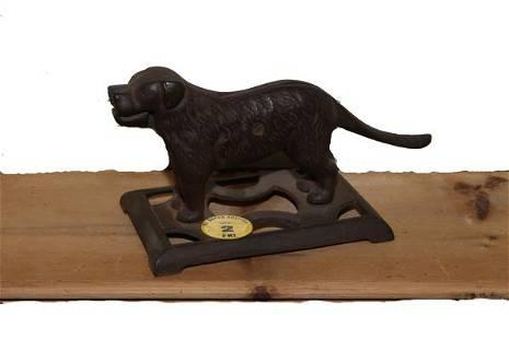 Cast iron nutcracker figural dog