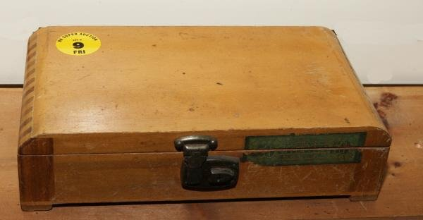 9: Wooden cigar box