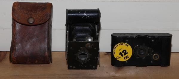 12: Lot of 2 Cameras with Case