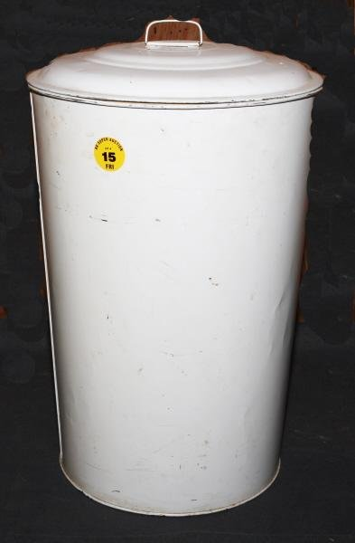 15: Metal General Store flour can with lid
