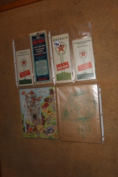 708: Lot of Texaco road maps  & Shell jig saw puzzle