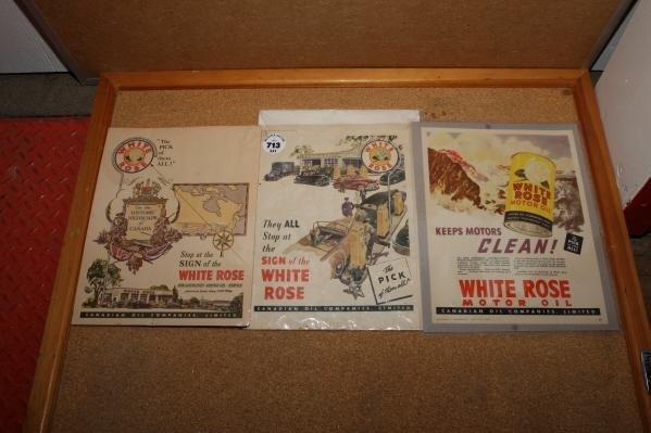 713: 3 - White Rose magazine ads