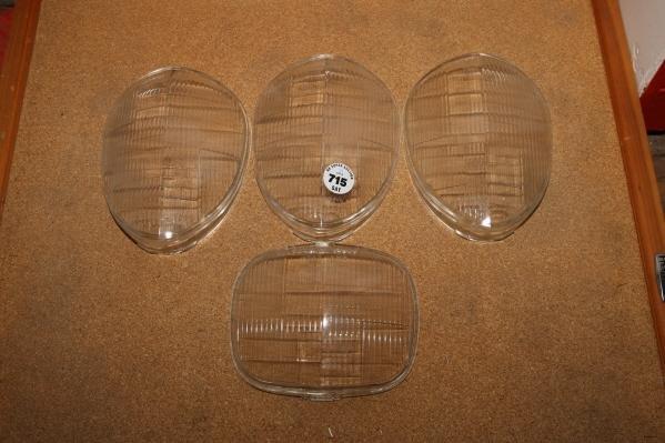 715: 4 - Head light lenses - 1940's