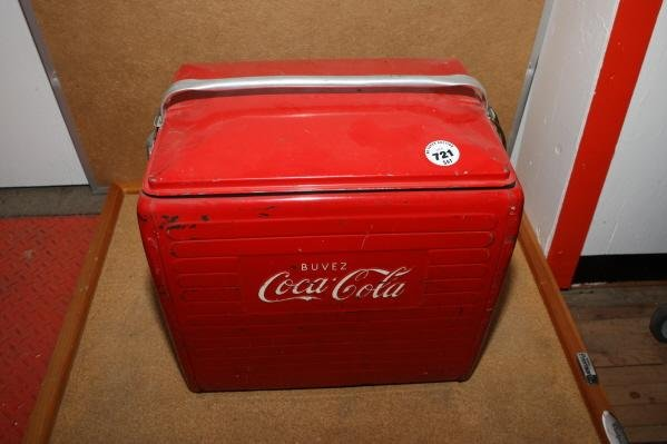 721: Coca Cola picnic cooler (French)