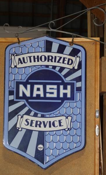 Authorized Nash Service dealer sign w/ bracket