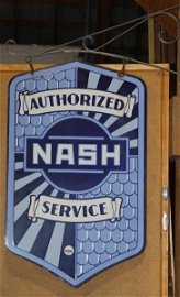 1100: Authorized Nash Service dealer sign w/ bracket